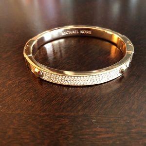 Michael Kors Rose Gold Embellished Bracelet